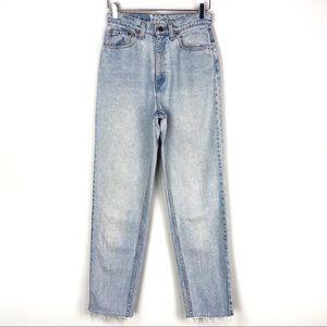 Vintage Levi's 521 High Rise Raw Hem Mom Jeans 26